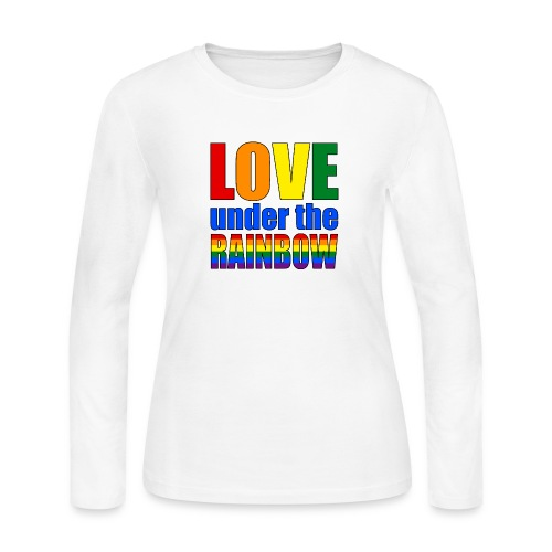 Somewhere under the rainbow... Celebrate Love! - Women's Long Sleeve Jersey T-Shirt