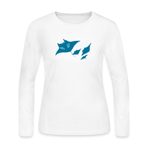 manta ray sting scuba diving diver dive - Women's Long Sleeve Jersey T-Shirt