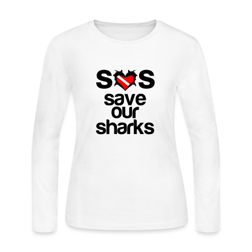 Save Our Sharks T-Shirt - Women's Long Sleeve Jersey T-Shirt