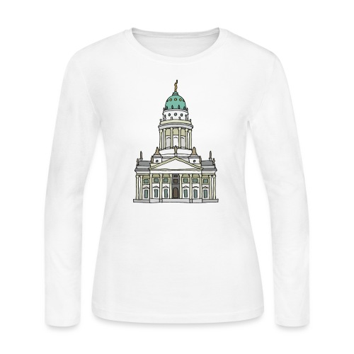 French Cathedral Berlin - Women's Long Sleeve Jersey T-Shirt