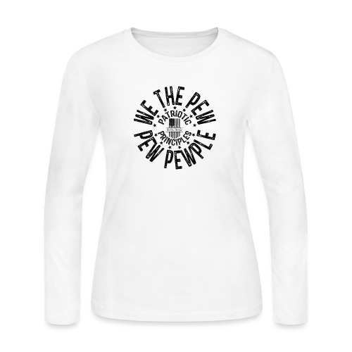 OTHER COLORS AVAILABLE WE THE PEW PEW PEWPLE B - Women's Long Sleeve Jersey T-Shirt