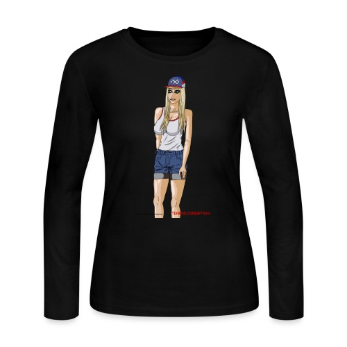 Gina Character Design - Women's Long Sleeve Jersey T-Shirt