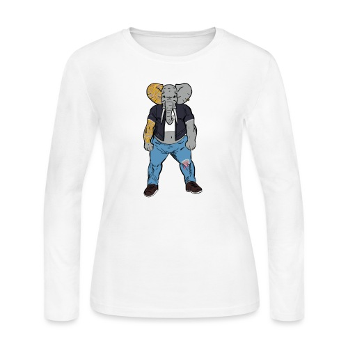 Dumbo Fell in the Wrong Crowd - Women's Long Sleeve Jersey T-Shirt
