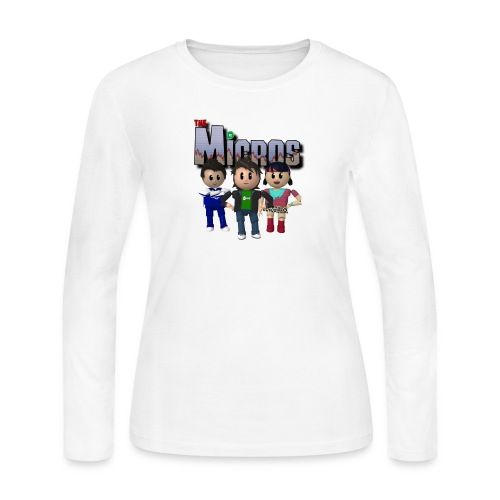 Logo with Characters - Women's Long Sleeve Jersey T-Shirt