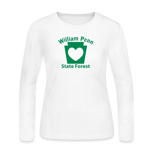 William Penn State Forest Keystone Heart - Women's Long Sleeve Jersey T-Shirt