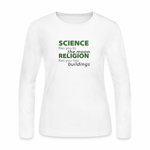 Science, Fly me to the Moon - Women's Long Sleeve Jersey T-Shirt