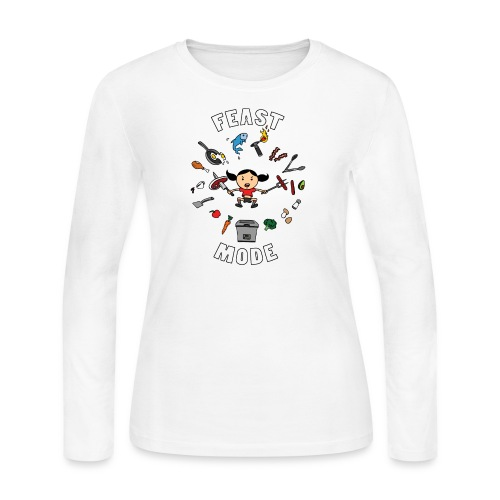 Feast Mode - Women's Long Sleeve Jersey T-Shirt