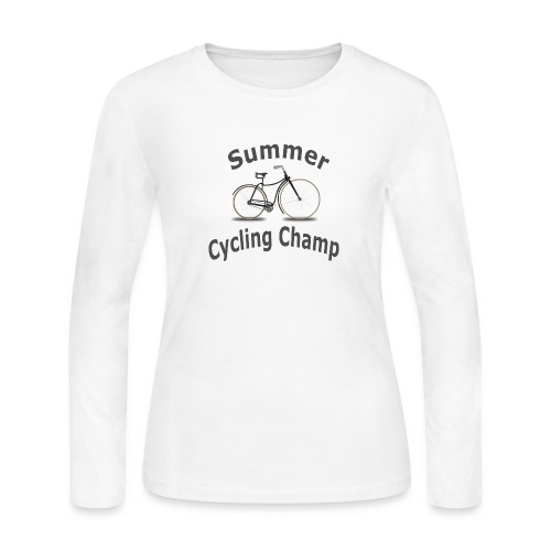Summer Cycling Champ - Women's Long Sleeve Jersey T-Shirt