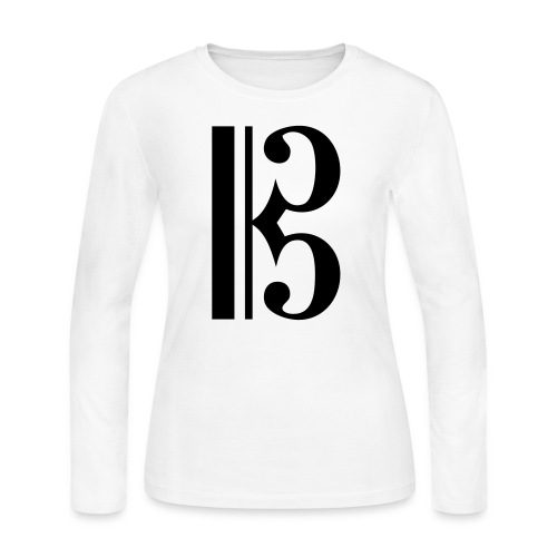 Tenor/Alto Clef - Women's Long Sleeve Jersey T-Shirt