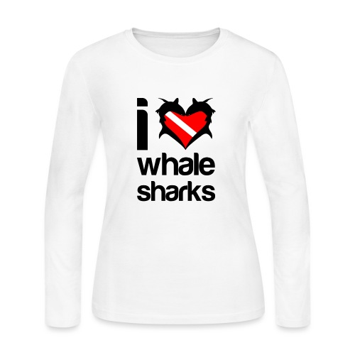 I Love Whale Sharks - Women's Long Sleeve Jersey T-Shirt