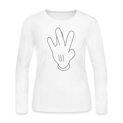 westside mickeymouse hand - Women's Long Sleeve Jersey T-Shirt