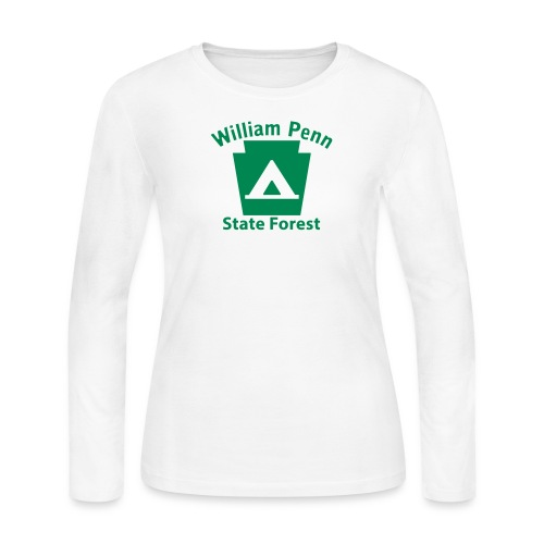 William Penn State Forest Camping Keystone PA - Women's Long Sleeve Jersey T-Shirt