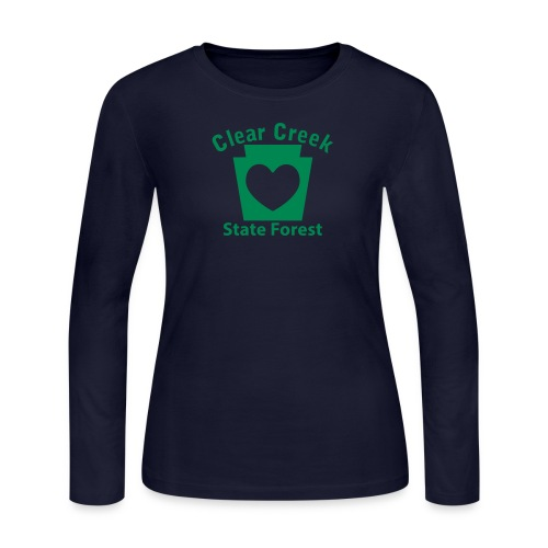 Clear Creek State Forest Keystone Heart - Women's Long Sleeve Jersey T-Shirt