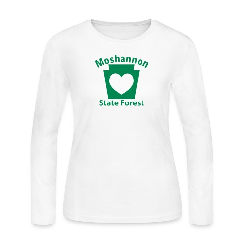 Moshannon State Forest Keystone Heart - Women's Long Sleeve Jersey T-Shirt