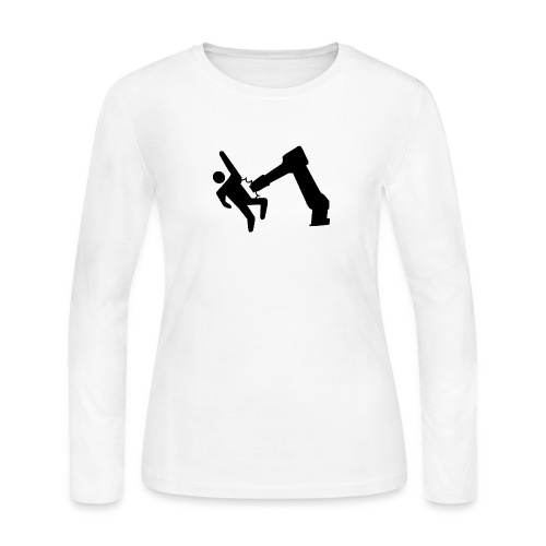 Robot Wins! - Women's Long Sleeve Jersey T-Shirt