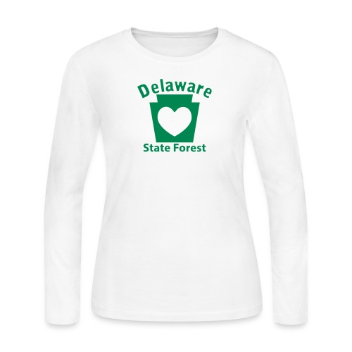 Delaware State Forest Keystone Heart - Women's Long Sleeve Jersey T-Shirt
