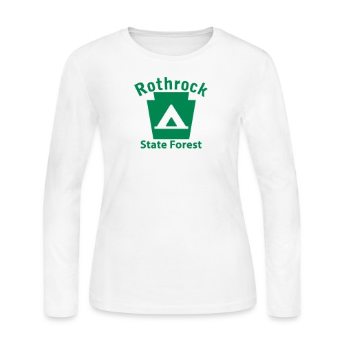 Rothrock State Forest Camping Keystone PA - Women's Long Sleeve T-Shirt