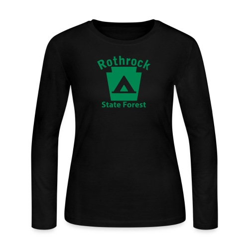 Rothrock State Forest Camping Keystone PA - Women's Long Sleeve Jersey T-Shirt