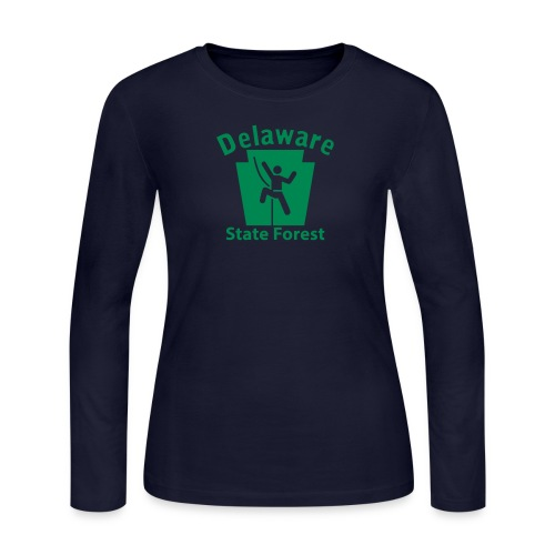 Delaware State Forest Keystone Climber - Women's Long Sleeve Jersey T-Shirt
