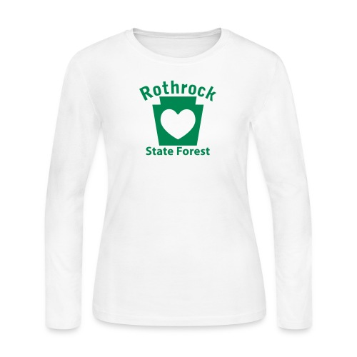 Rothrock State Forest Keystone Heart - Women's Long Sleeve Jersey T-Shirt