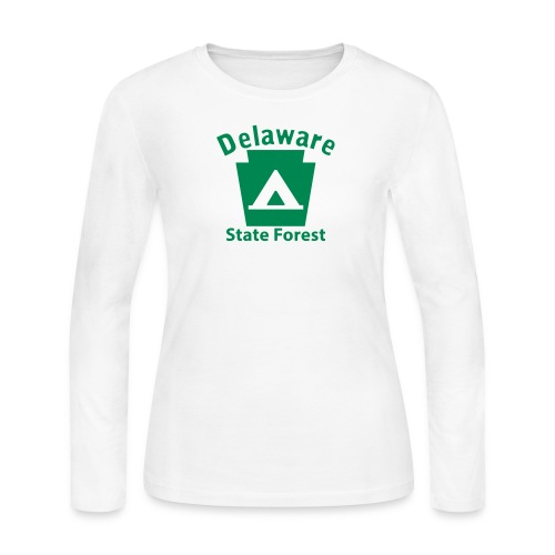 Delaware State Forest Camping Keystone PA - Women's Long Sleeve Jersey T-Shirt