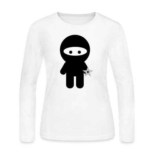 Ninja Boy - Kids Tee - Women's Long Sleeve Jersey T-Shirt