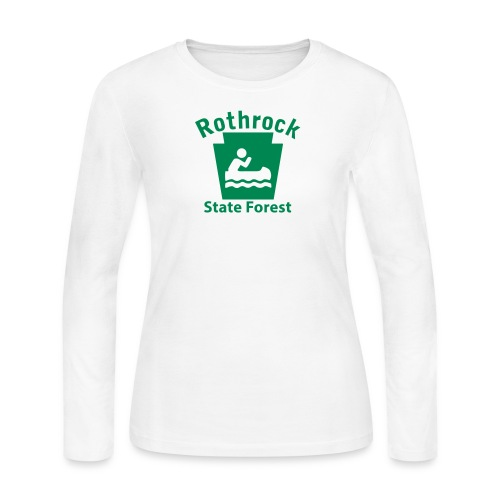 Rothrock State Forest Boating Keystone PA - Women's Long Sleeve Jersey T-Shirt