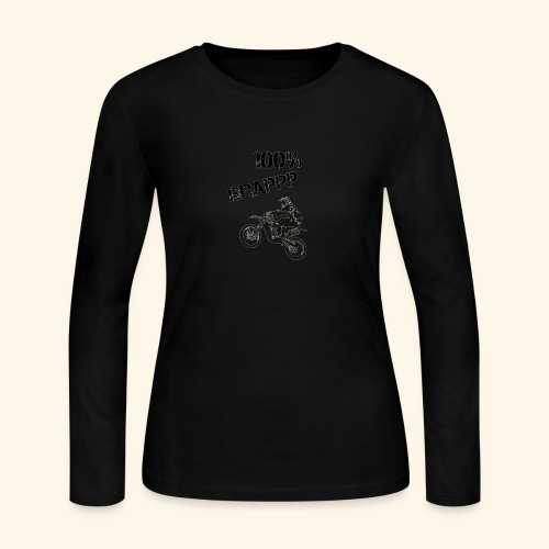 100% BRAPPP (Black and White) - Women's Long Sleeve Jersey T-Shirt