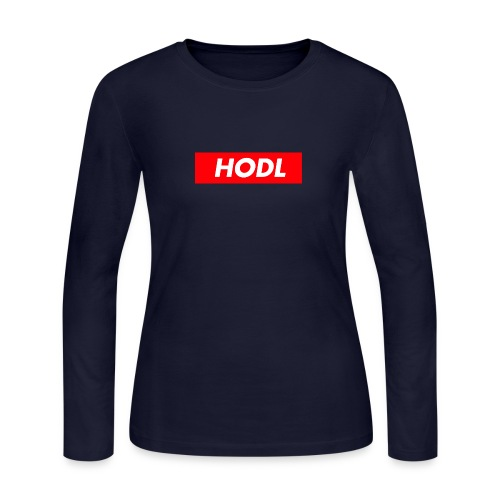 Hodl BoxLogo - Women's Long Sleeve Jersey T-Shirt