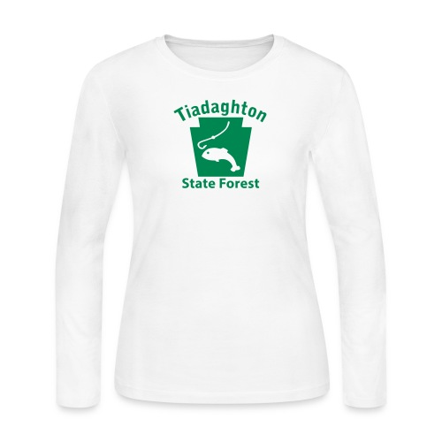Tiadaghton State Forest Fishing Keystone PA - Women's Long Sleeve Jersey T-Shirt