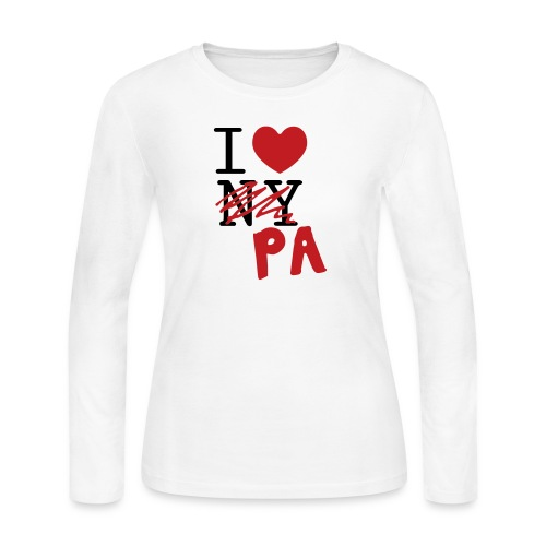 I Love (PA) Pennsylvania - Women's Long Sleeve Jersey T-Shirt