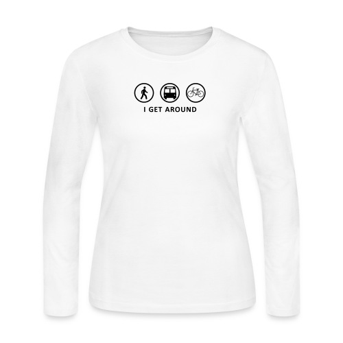 WalkBikeRide-ALT2 - Women's Long Sleeve Jersey T-Shirt