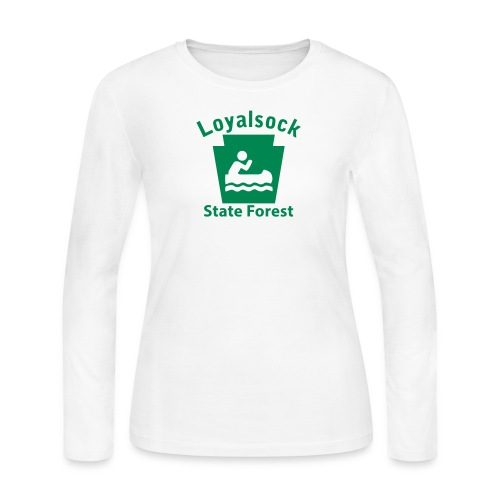 Loyalsock State Forest Boating Keystone PA - Women's Long Sleeve Jersey T-Shirt