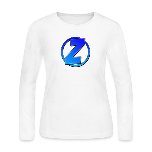Blue Ziffy logo Shirt - Women's Long Sleeve Jersey T-Shirt