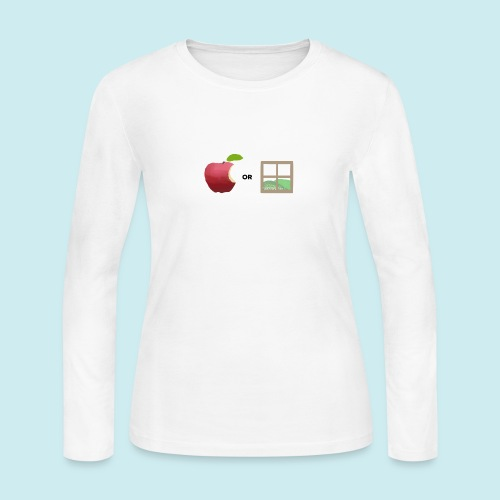 Apple or windows? - Women's Long Sleeve Jersey T-Shirt