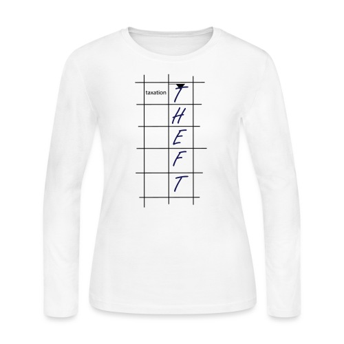 Taxation is Theft Crossword - Women's Long Sleeve Jersey T-Shirt
