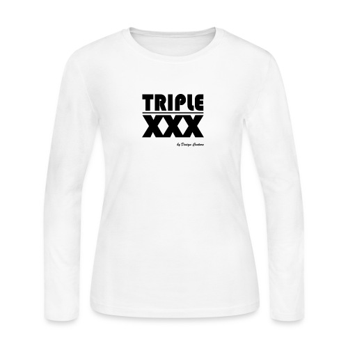 XXX BLACK - Women's Long Sleeve Jersey T-Shirt