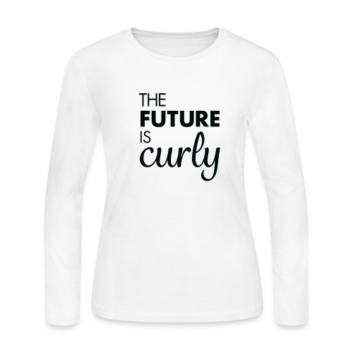 The Future is Curly- Black - Women's Long Sleeve Jersey T-Shirt