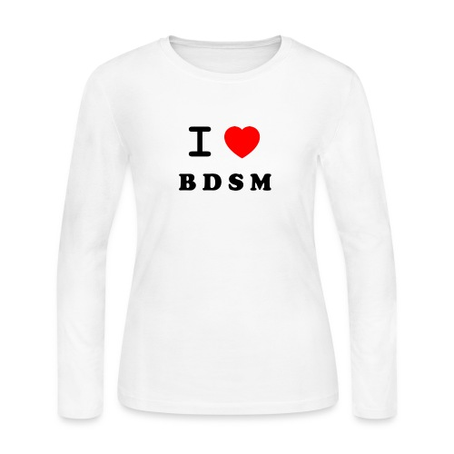 I Love BDSM - Women's Long Sleeve Jersey T-Shirt