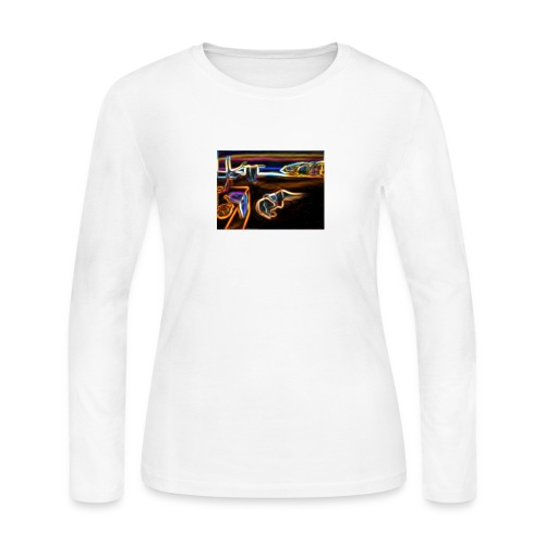 Melted Neon Dali - Women's Long Sleeve Jersey T-Shirt