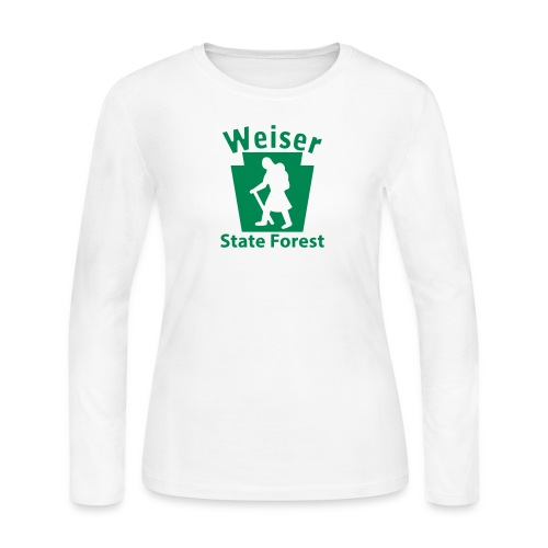 Weiser State Forest Keystone Hiker Female - Women's Long Sleeve Jersey T-Shirt