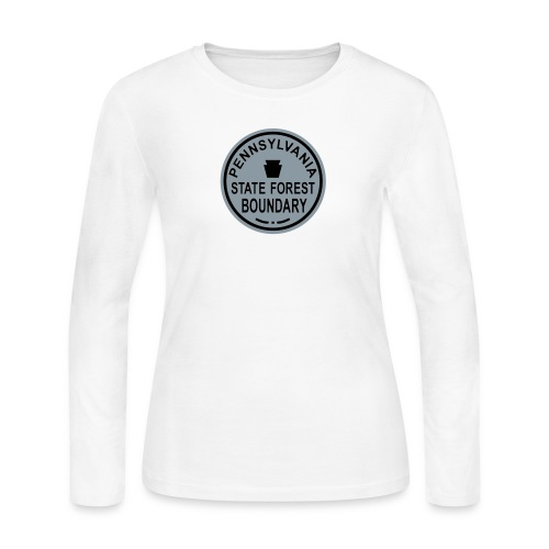 PA State Forest Boundary - Women's Long Sleeve T-Shirt