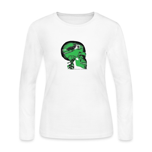 SLDHED GRNBLK png - Women's Long Sleeve Jersey T-Shirt