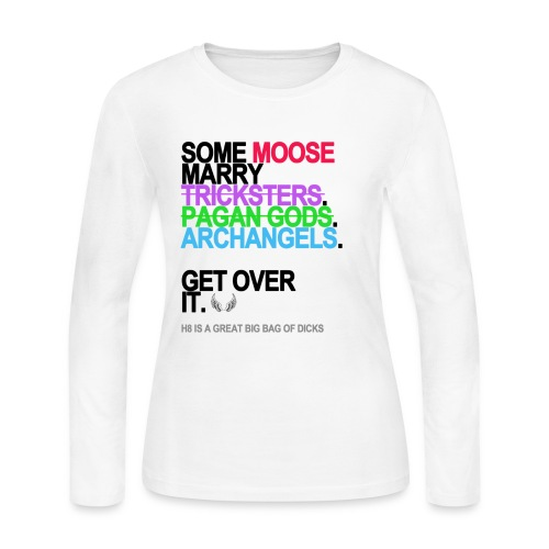 some moose marry gods lg transparent - Women's Long Sleeve Jersey T-Shirt