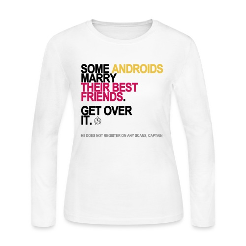 some androids marry bffs lg transparent - Women's Long Sleeve Jersey T-Shirt
