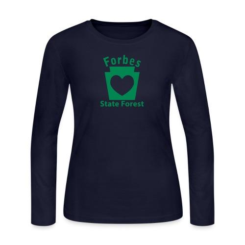 Forbes State Forest Keystone Heart - Women's Long Sleeve Jersey T-Shirt