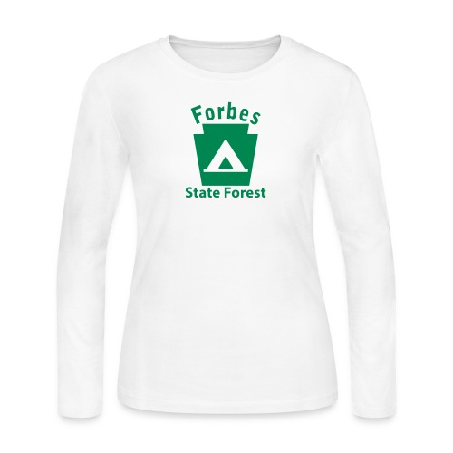 Forbes State Forest Camping Keystone PA - Women's Long Sleeve Jersey T-Shirt