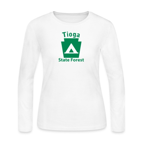 Tioga State Forest Camping Keystone PA - Women's Long Sleeve Jersey T-Shirt