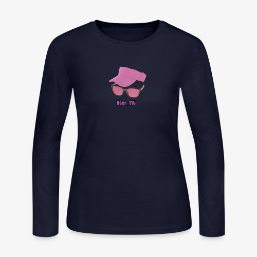 Glasses And Hat - Women's Long Sleeve Jersey T-Shirt