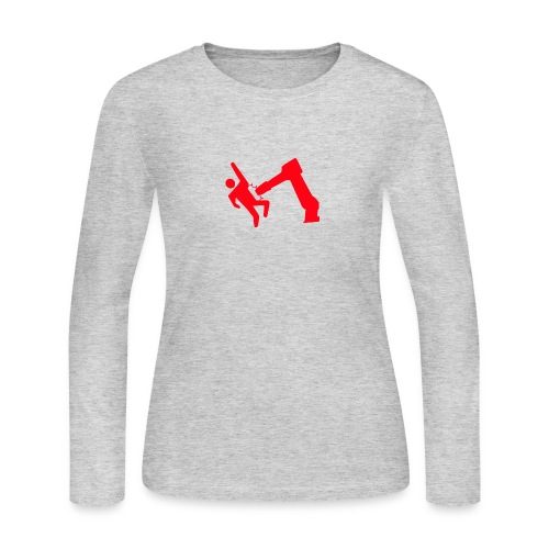 Robot Wins - Women's Long Sleeve Jersey T-Shirt